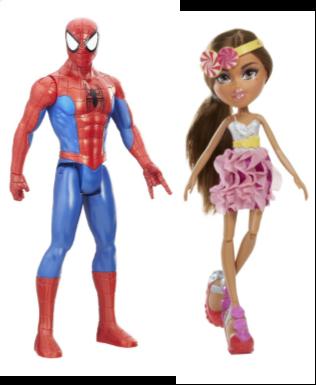 Les figurines Action Man (musclé) et Bratz (mince)