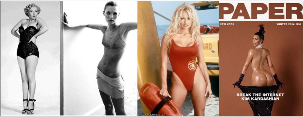 Évolution de l'idéal de beauté féminin. Des années 1950 à nos jours.